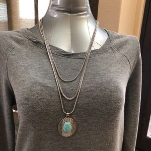 Lucky Brand 3 tier reversible necklace